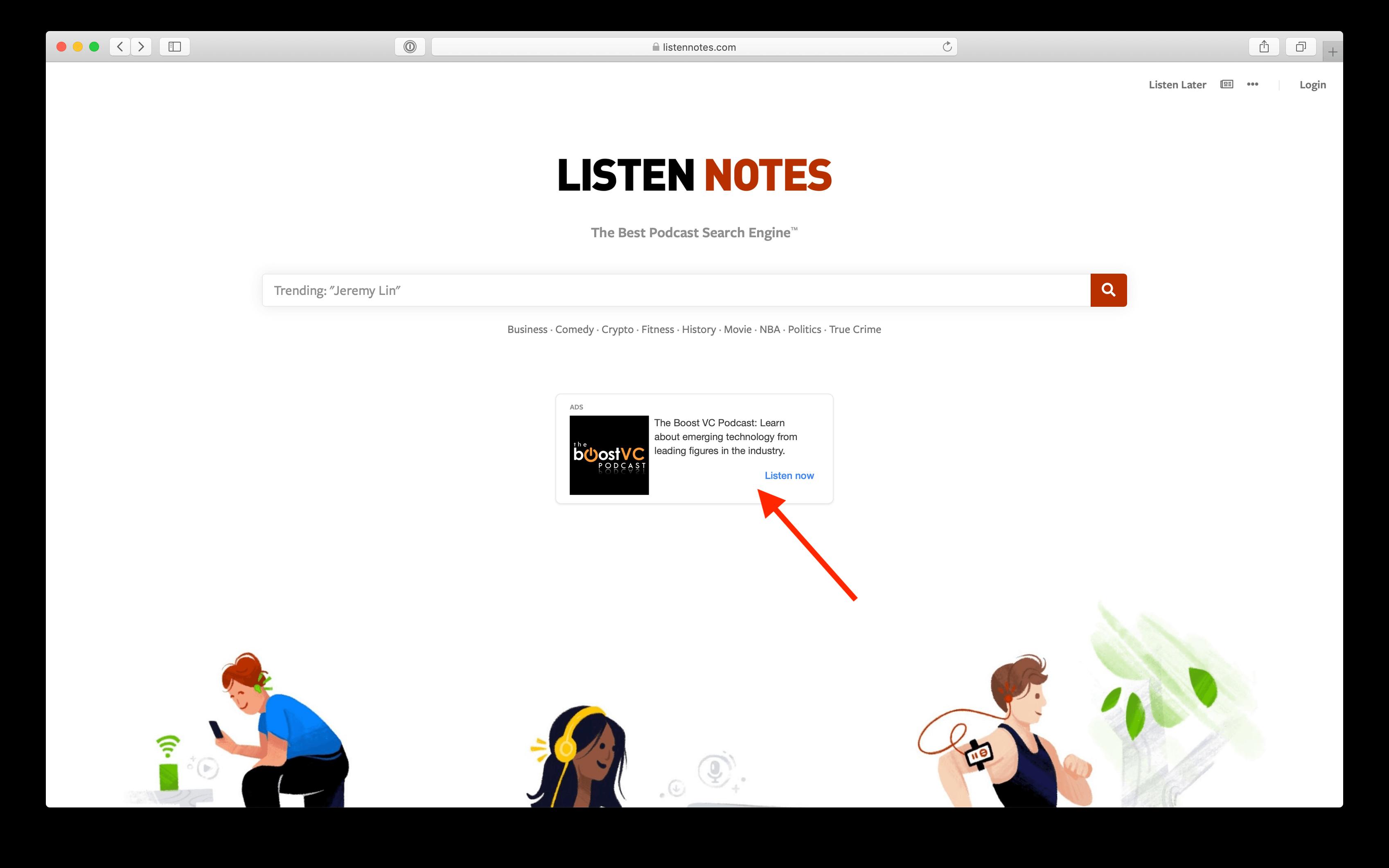 Sponsorship | Listen Notes