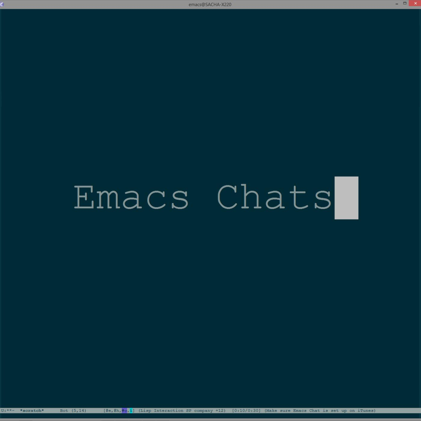 2015-12-10 Emacs Chat: John Wiegley on maintaining Emacs and