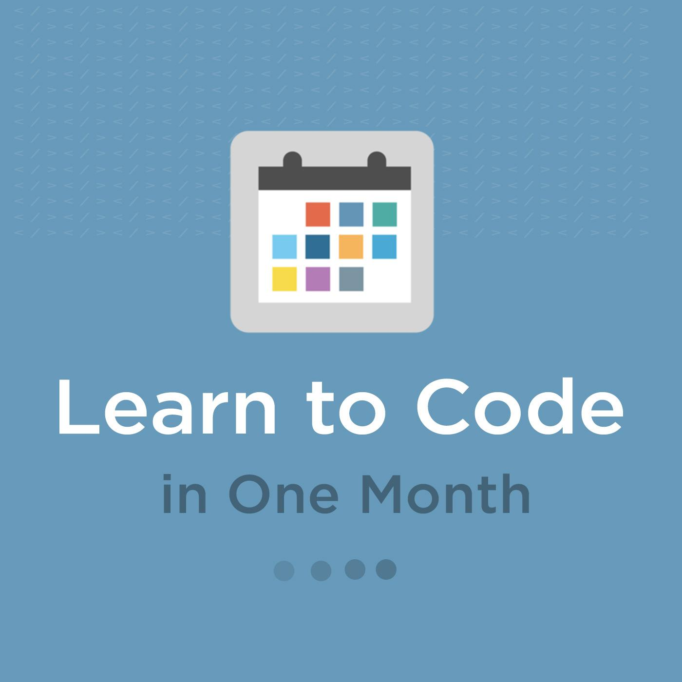Learn to Code in One Month (podcast) - Learn to Code