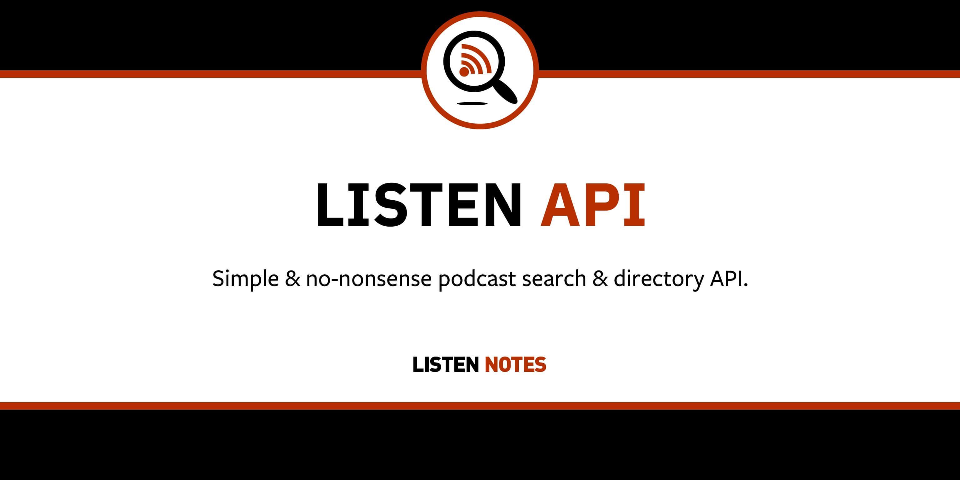 Listen API: Podcast Search & Directory API